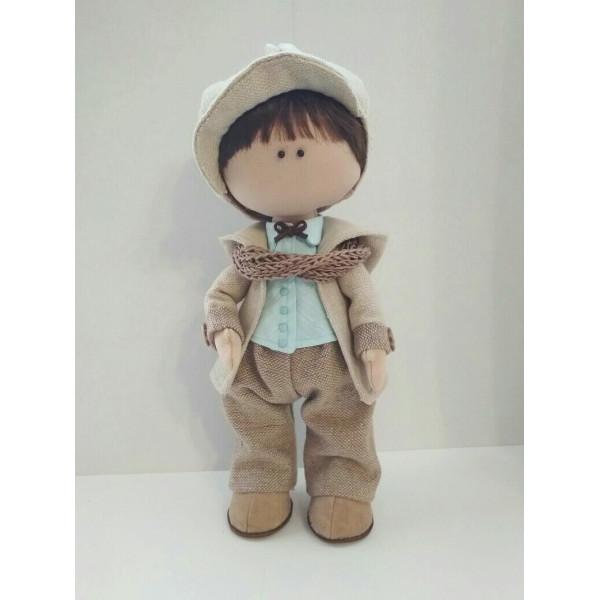 Интерьерная текстильная кукла ручной работы Антуан