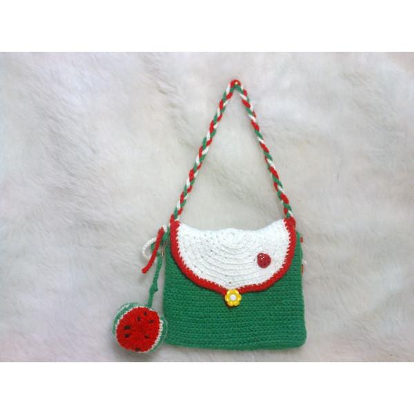 Вязаная сумочка для маленькой принцессы «Фруктово-ягодное ассорти», авторская работа