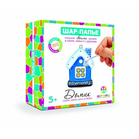 Набор для творчества ШАР-ПАПЬЕ В02623 Домик в коробке со стразами
