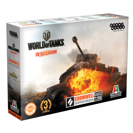 Сборная модель HOBBY WORLD 1628 World of Tanks. CROMWELL. Масштабная модель 1:56