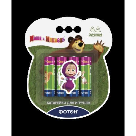 """Элементы питания ФОТОН 22854 LR6 ВP4 ,""""Маша и медведь"""" + наклейка"""