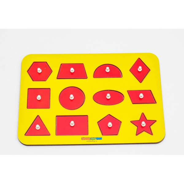 Рамка-вкладыш WOODLANDTOYS Монтессори геометрия 1 082101