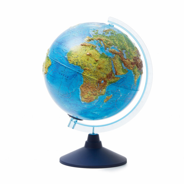 Глобус GLOBEN физико-политический рельефный с подстветкой от батареек 250 мм Ве022500261