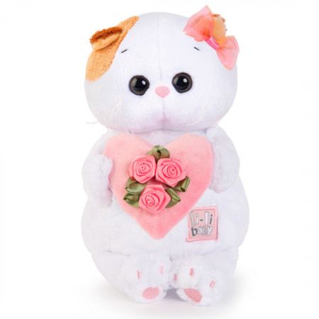 Мягкая игрушка BUDI BASA LB-001 Ли-Ли BABY с розовым сердечком