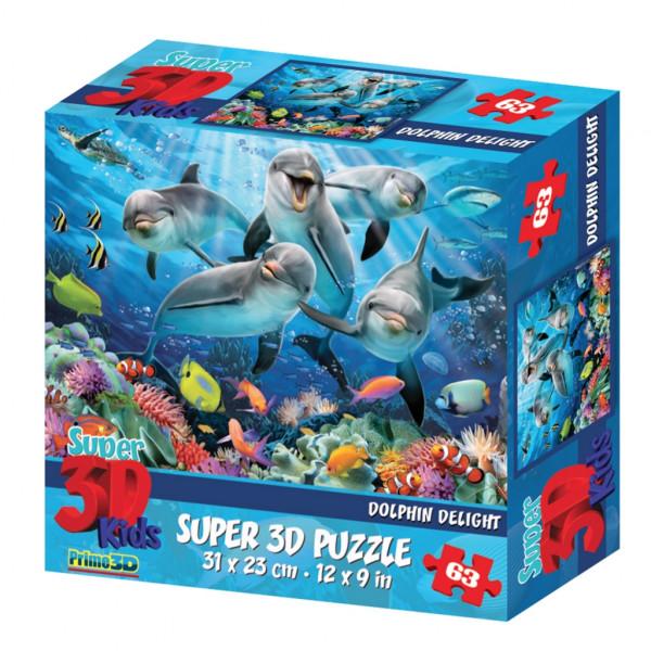 Стерео пазл PRIME 3D Дельфиний восторг 13522