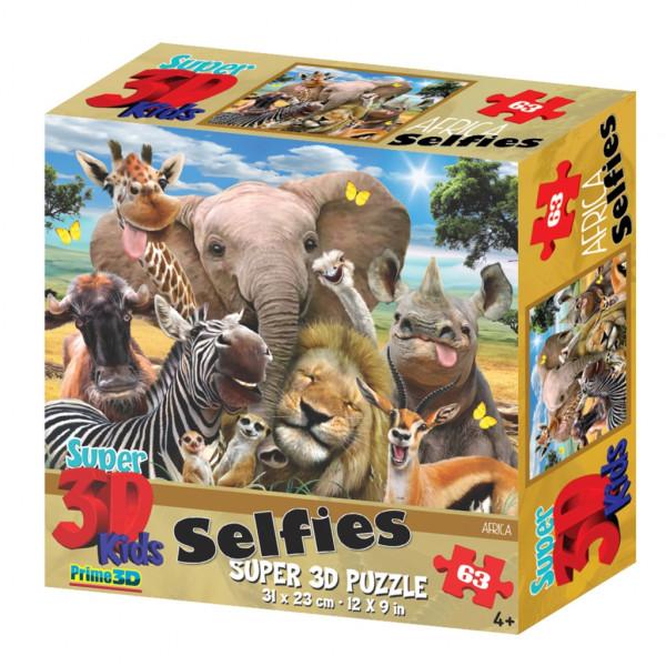Стерео пазл PRIME 3D Африка селфи 13542