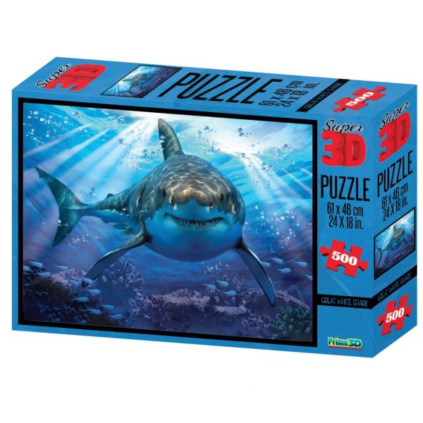 Стерео пазл PRIME 3D Большая белая акула 10048