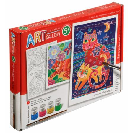 Набор для творчества АЙРИС-ПРЕСС 58529 Загадочные коты.Средний набор.