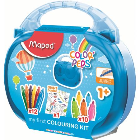Набор для рисования MAPED 897416 COLOR'PEPS JUMBO (раскраска, 12 мелков, 10 фломастеров)