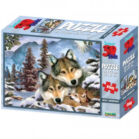 Стерео пазл PRIME 3D 10558 Волчья гармония