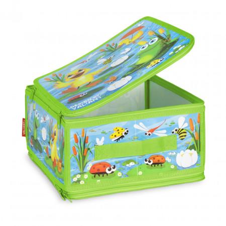 Коробка для хранения VALIANT KCDF-ZIP-M Утята и лягушата 30*28*15 см