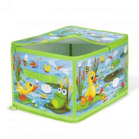 Коробка для хранения VALIANT KCDF-ZIP-L Утята и лягушата 40*30*25 см