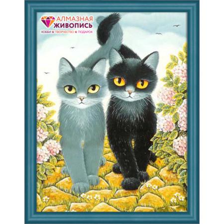 Алмазная мозаика АЛМАЗНАЯ ЖИВОПИСЬ АЖ-1301 Коты