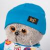 Мягкая игрушка BUDI BASA Ks22-091 Басик в футболке космос и в шапочке 22см