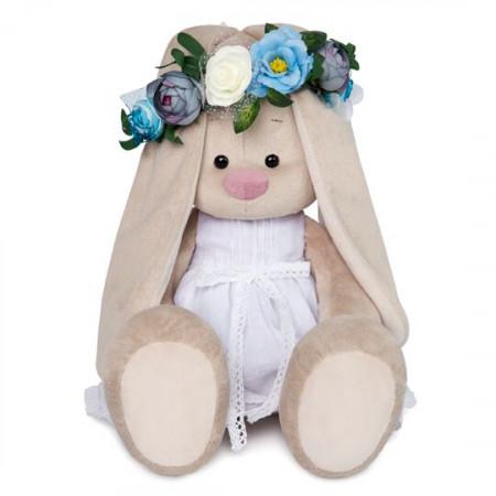 Мягкая игрушка BUDI BASA SidL-259 Зайка Ми в белом платье и веночке 34см