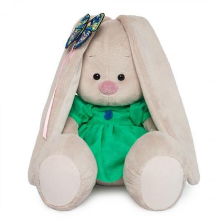 Мягкая игрушка BUDI BASA SidS-267 Зайка Ми в зелёном платье с бабочкой 18см