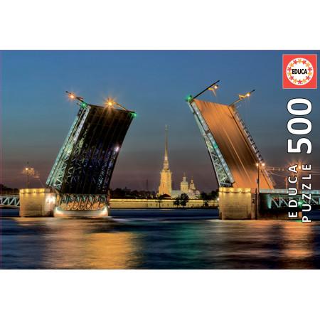 Пазл EDUCA 17413 Развод Дворцового моста в Санкт-Петербурге 500 дет