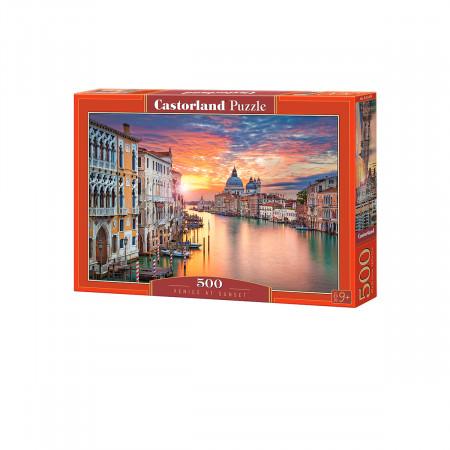 Пазл CASTOR LAND B-52479 Венеция на закате 500 дет
