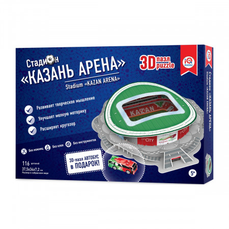 3d пазл IQ 3D PUZZLE 16547 Казань Арена