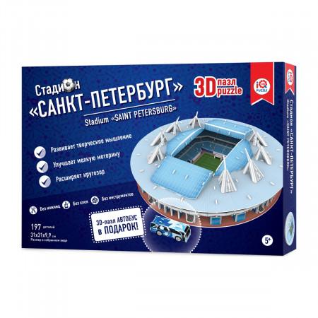 3d пазл IQ 3D PUZZLE 16551 Стадион Санкт-Петербург