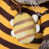 Мягкая игрушка BUDI BASA Ks22-092 Басик в полосатой футболке с пчелой 22см