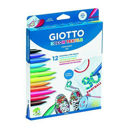 Фломастеры GIOTTO 494900 DECOR TEXTILE для декора по ткани 12 цв