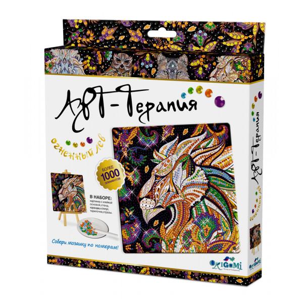 Алмазная мозаика ORIGAMI Огненный Лев 03216