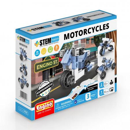 Конструктор ENGINO STH22 STEM Heroes. Набор из 3 моделей. Мотоциклы