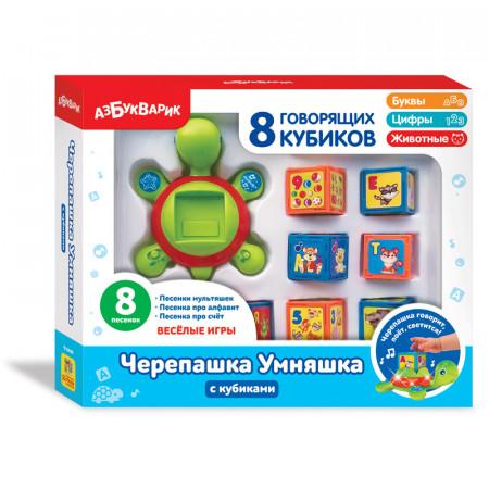 Игрушка АЗБУКВАРИК 82213 Черепашка Умняшка с кубиками