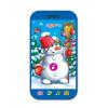 Игрушка АЗБУКВАРИК 81339 Смартфончик Весёлый снеговик