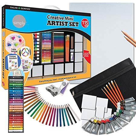 Набор DALER ROWNEY 181900604 Creative Mini Artist Set 115 предметов