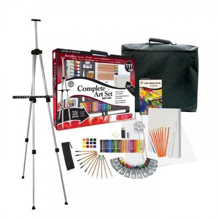 Набор DALER ROWNEY 196500600 Complete Art Set с мольбертом, 111 предметов