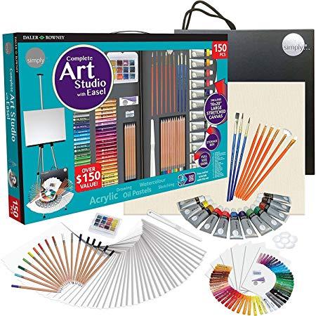 Набор DALER ROWNEY 196500603 Complete Art Studio с мольбертом, 150 предметов