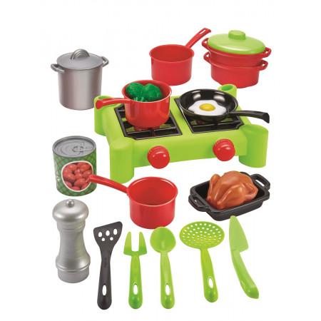 Игровой набор ECOIFFIER 2649 Chef Набор плита с продуктами