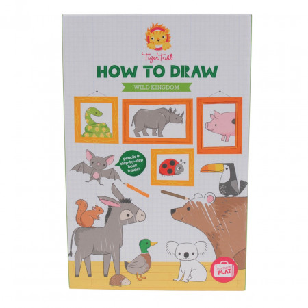 Набор TIGER TRIBE 6-0227 Учимся рисовать Царство диких животных