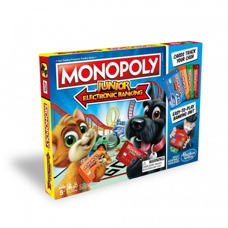 Настольная игра HASBRO GAMING E1842121 Монополия Джуниор с банковскими картами