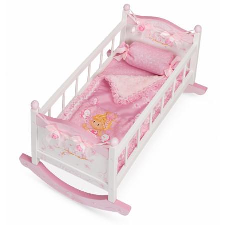 Набор кукольной мебели DECUEVAS TOYS 54523 Кроватка-качалка 56см