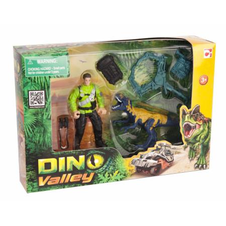 Игровой набор CHAP MEI 520007-1 Динозавр Мегалозавр и ловец динозавров