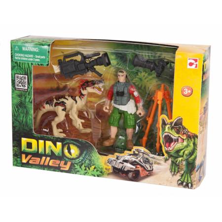 Игровой набор CHAP MEI 520007-2 Динозавр Эораптор и кинооператор