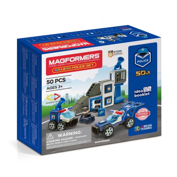 Магнитный конструктор MAGFORMERS Amazing Police Set 50 дет. 717002