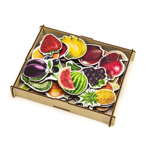 Овощи, фрукты, ягоды (дер.коробка)