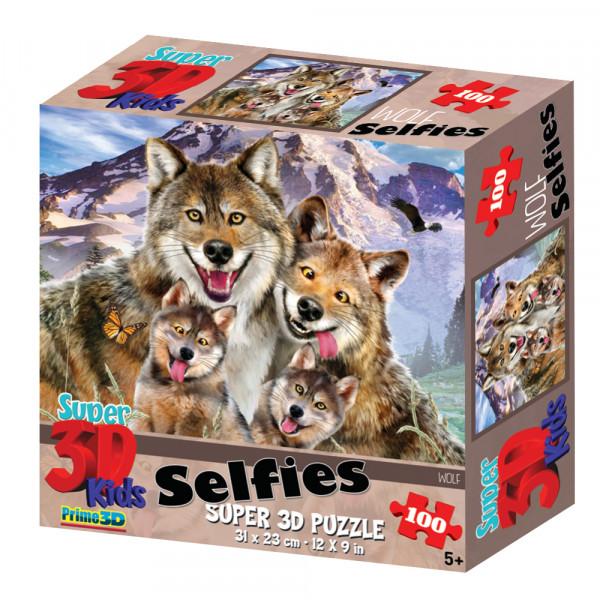 Стерео пазл PRIME 3D Волки селфи 13669