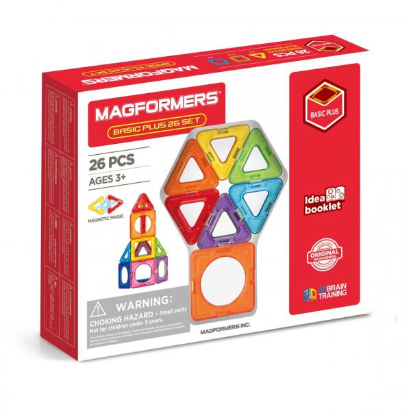 Магнитный конструктор MAGFORMERS Basic Plus Set 26 дет. 715014
