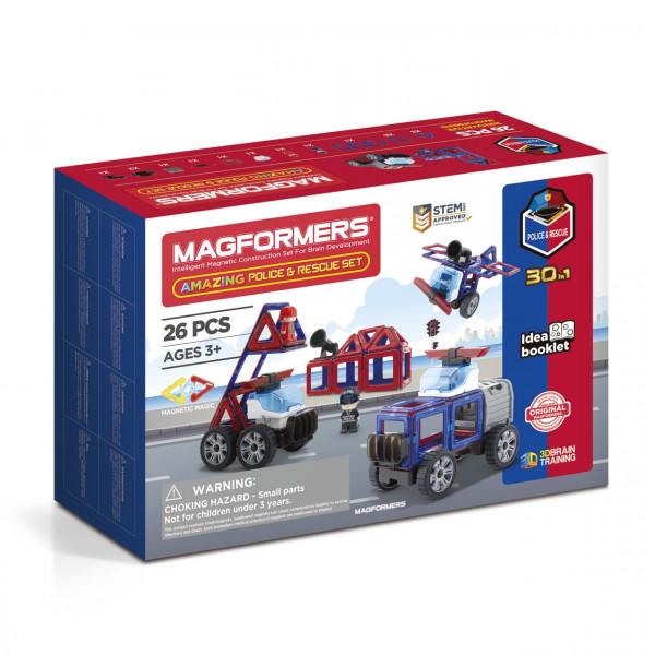 Магнитный конструктор MAGFORMERS Amazing Police & Rescue Set 717001