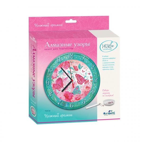 Алмазная мозаика ORIGAMI Часы нежный аромат 04736