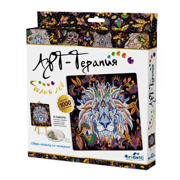 Алмазная мозаика ORIGAMI Белый лев 03217