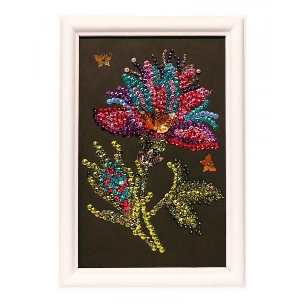 Мозаика из пайеток ВОЛШЕБНАЯ МАСТЕРСКАЯ Волшебный цветок М028