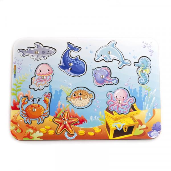 Игровой набор WOODLANDTOYS Магнитная рыбалка Морской 062205