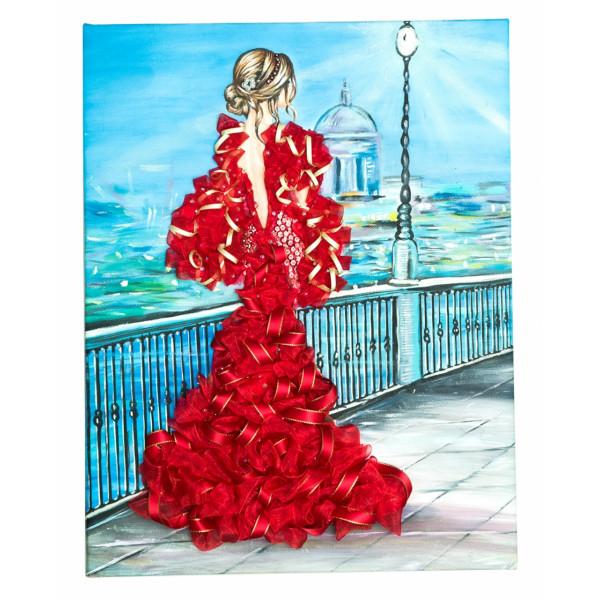 Мозаика из пайеток ВОЛШЕБНАЯ МАСТЕРСКАЯ Девушка в красном МХ-31