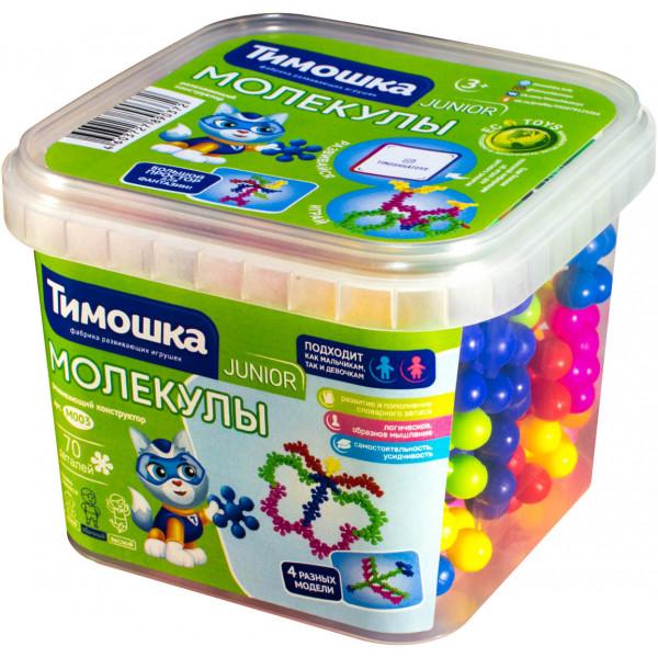Конструктор ТИМОШКА Молекулы 70 деталей М003